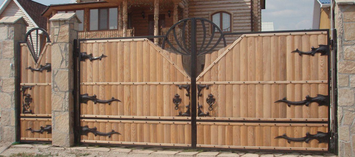 Деревянные ворота своими руками фото